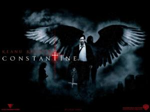 Poster for the 2005 film Constantine. He is a detective of the supernatural.