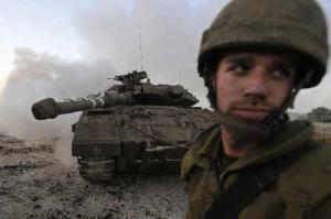 Israeli solder and tank in Gaza Strip. Photo: Xinhua